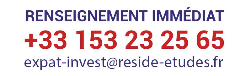 Renseignement immédiat au +33 153 23 25 65